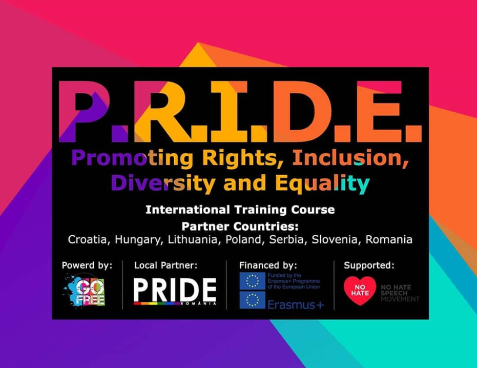 "POZIV ZA UČESNIKE na međunarodnom treningu ""Promoting Rights, Inclusion, Diversity and Equality (PRIDE)"" u u Klužu (Rumunija),14-21.10.2018."